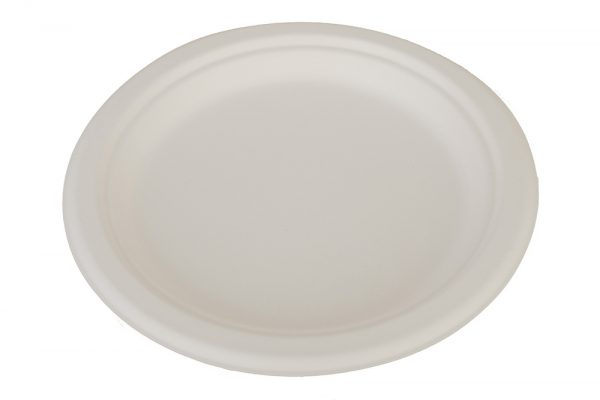 Plato biodegradable redondo