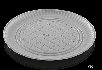 Charola de plástico redonda