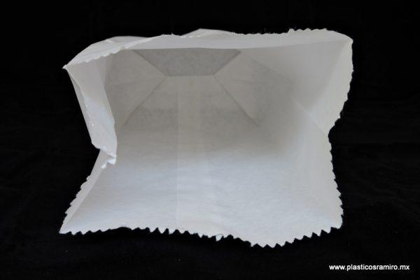 Bolsa papel blanca con fuelle