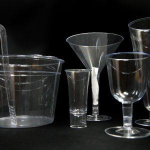 Copas de plástico